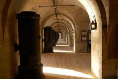Light old corridor Stock Photos