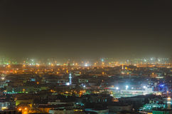 Light of old Dubai at night Royalty Free Stock Images