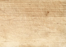 Light old scratched cutting board or wooden table Stock Image