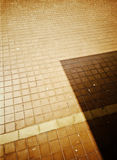 Light on the old tiles Stock Photo