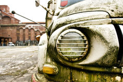 Light of an old truck. Old truck of the salvation army Royalty Free Stock Image