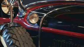 Light of old vintage vehicle. Side view stock footage