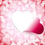 Light Open Cut Heart Background Stock Images