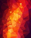 Light orange abstract polygonal background. Vector illustration. Lights. Geometric pattern. Abstract fire Royalty Free Stock Image