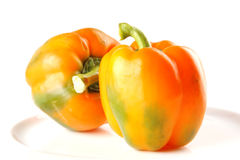 Light orange bell pepper Stock Photos