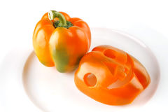 Light orange bell pepper Royalty Free Stock Photo