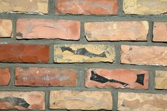 Light orange face brick wall background texture Royalty Free Stock Photos