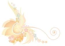 Light orange flower design Stock Image