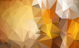 Light Orange  Low poly crystal background. Polygon design Stock Image