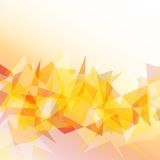 Light orange polygonal abstract background. Vector illustration Royalty Free Stock Photography
