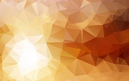 Light Orange polygonal illustration, which consist of triangles. Geometric background in Origami style with gradient. Triangular design for your business Stock Photo