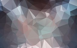 Light Orange polygonal illustration, which consist of triangles. Geometric background in Origami style with gradient. Triangular design for your business Stock Images