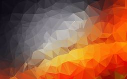 Light Orange polygonal illustration, which consist of triangles. Geometric background in Origami style with gradient. Triangular design for your business Stock Photos