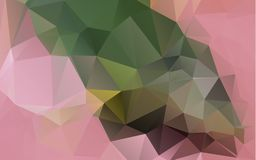 Light Orange polygonal illustration, which consist of triangles. Geometric background in Origami style with gradient. Triangular design for your business Royalty Free Stock Image