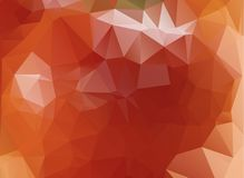 Light Orange polygonal illustration, which consist of triangles. Geometric background in Origami style with gradient. Triangular design for your business Royalty Free Stock Photo