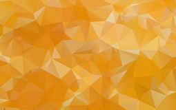 Light Orange polygonal illustration, which consist of triangles. Geometric background in Origami style with gradient. Triangular design for your business Royalty Free Stock Photography