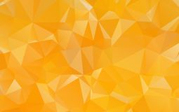 Light Orange polygonal illustration, which consist of triangles. Geometric background in Origami style with gradient. Triangular design for your business Stock Photography