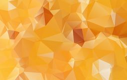 Light Orange polygonal illustration, which consist of triangles. Geometric background in Origami style with gradient. Triangular design for your business eps Stock Images