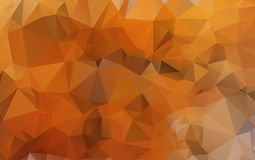 Light Orange polygonal illustration, which consist of triangles. Geometric background in Origami style with gradient. Triangular design for your business eps Royalty Free Stock Photos