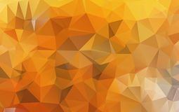 Light Orange polygonal illustration, which consist of triangles. Geometric background in Origami style with gradient. Triangular design for your business Royalty Free Stock Photos