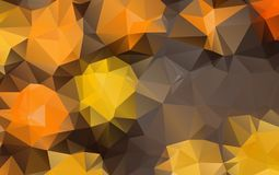 Light Orange polygonal illustration, which consist of triangles. Geometric background in Origami style with gradient. Triangular design for your business Stock Image