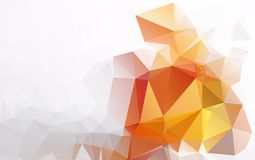 Light Orange polygonal illustration, which consist of triangles. Geometric background in Origami style with gradient. Triangular design for your business eps Stock Image