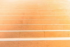 Light orange tile of stairs. Stair steps, concrete stair top up with tile royalty free stock images