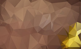 Light Orange vector Low poly crystal background. Polygon design Royalty Free Stock Photos