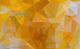 Light Orange vector Low poly crystal background. Polygon design Stock Photography