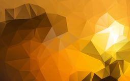 Light Orange vector polygonal illustration, which consist of tri. Angles. Triangular design for your business. Creative geometric background Stock Photography