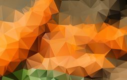 Light Orange vector polygonal illustration, which consist. Of triangles. Triangular design for your business. Creative geometric background Stock Photo