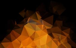 Light Orange vector polygonal illustration, which consist. Of triangles. Triangular design for your business. Creative geometric background Stock Photography