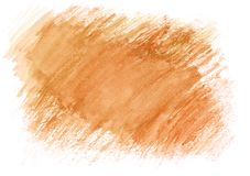 Light orange watercolor dry brush strokes. Beautiful abstract background for designers, mock-ups, invitations, postcards. Canvas for text and congratulations royalty free stock image