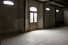 Light from outside. Source of light that reach us through the door, we see everything Royalty Free Stock Photo