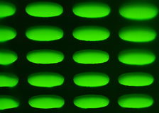 Light through oval wall hole pass green canvas waterproof rain Stock Image
