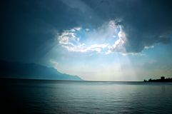 Light over Lac Leman Stock Photography