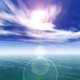 Light over the ocean, seascape Royalty Free Stock Photo