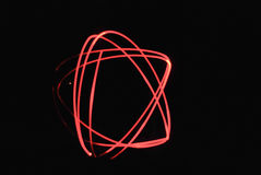 Light paint red star Stock Photography