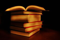 Light painted books Royalty Free Stock Images
