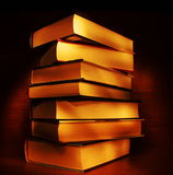 Light painted books Stock Photo