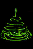 Light painted Christmas Tree Royalty Free Stock Image