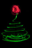 Light painted Christmas Tree Stock Image