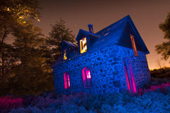 Light Painted Farm House Royalty Free Stock Photo