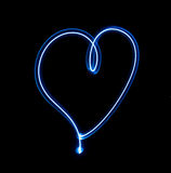 Light painted heart Stock Images