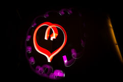 Light painted heart Royalty Free Stock Photos