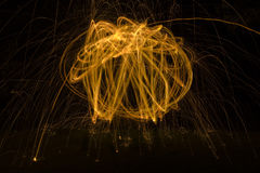 Light Painting Background Stock Photography