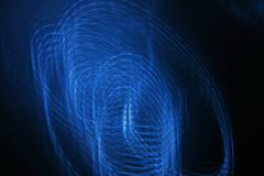 Light Painting Blue Curves Royalty Free Stock Image