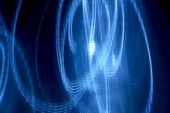 Light Painting Blue Streaks Stock Photo