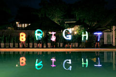 Light painting ,bright,human team,power Stock Images