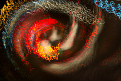 Light painting by the camera movement. Abstract image taken by shifting and rotating the camera Royalty Free Stock Photo